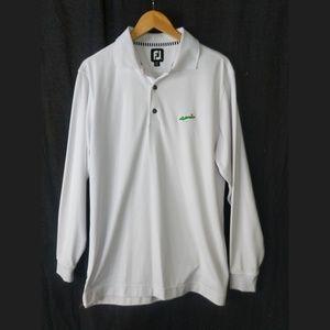 FootJoy Long Sleeve Polo Shirt Mens M White
